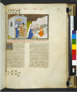 1410 - The Book of the Queen - building of the Cité des Dames - by Master of the Cité des Dames. British Library.