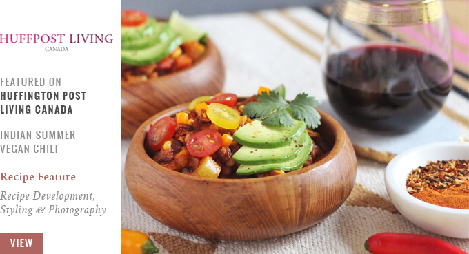 Indian Summer Vegan Chili Featured on Huffington Post Living Canada | 20 Squash Recipes to Try This Thanksgiving