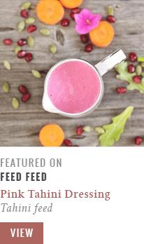 Pink Tahini Dressing on FeedFeed