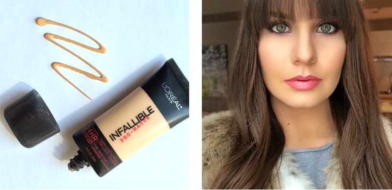 Best in Beauty | March | L'Oreal Infallible Pro-Matte 24 HR Foundation | 105 Natural Beige Photos, Review, Swatches // JustineCelina.com