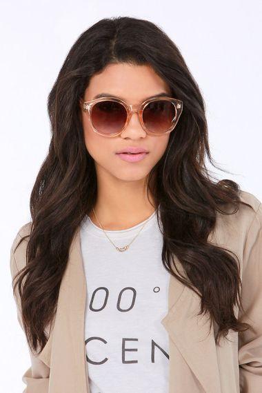 Lulu*s Marlo Peach Sunglasses