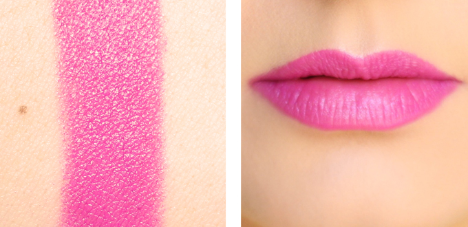 Maybellines ColorSensational Vivids Lipstick in Hot Plum Photos, Review, Swatches // JustineCelina.com