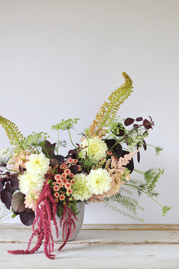 An Introduction to Autumn Flowers   Thanksgiving Floral Inspiration // JustineCelina.com x Rebecca Dawn Design