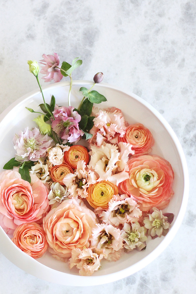 DIY Floating Spring Centrepiece // JustineCelina.com x Rebecca Dawn Design