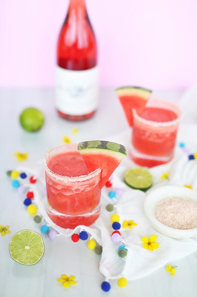 Watermelon Frosé Margaritas // JustineCelina.com