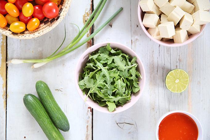 #Vegan Fiesta Buffalo Tofu Bowls with Tahini Lime Crema   #sponsored by Inspired Greens // JustineCelina.com