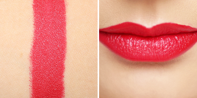 5 Red Lipsticks to Try this AW17 + Bite Beauty Matte Crème Lip Crayon in Fraise Photos, Review & Swatches on NC 30 Skin // JustineCelina.com