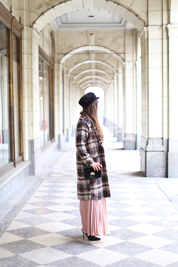 What to Wear to | Casual Holiday Parties | Holiday 2017 | Longline, Checked Wool Coat // JustineCelina.com