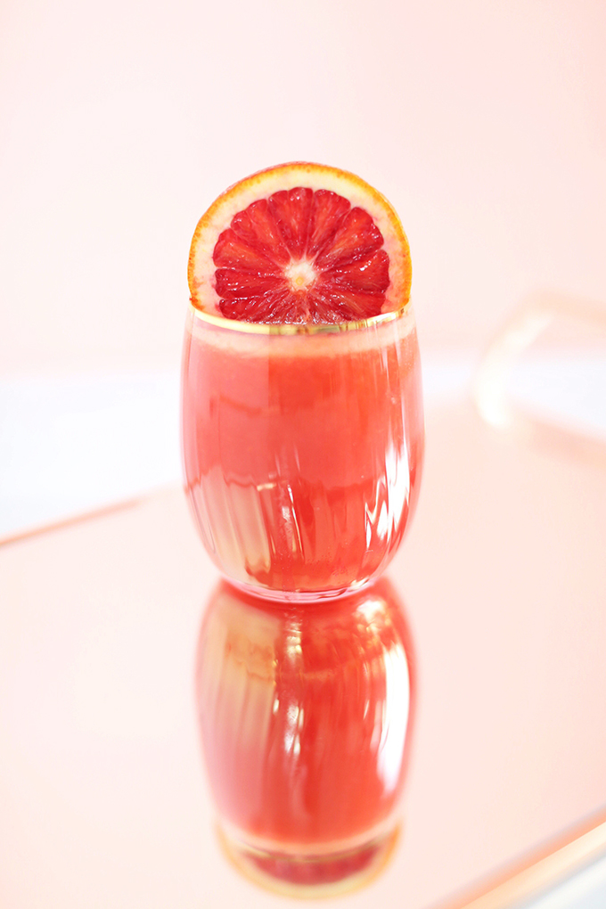 Citrus Season Elixir | The Best Fresh Pressed Citrus Juice | Ruby Red Grapefruit, Blood Oranges, Lemons // JustineCelina.com