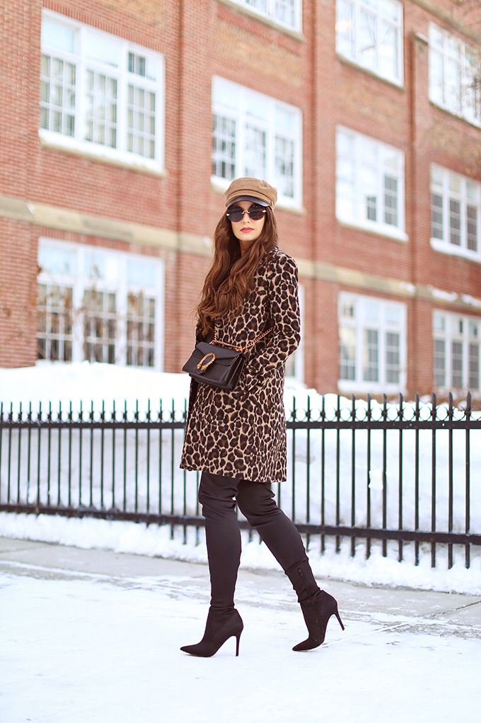 How to Style | Leopard Print | Winter to Spring 2018 Transitional Fashion Ideas | Calgary, Alberta Fashion Blogger | Canadian Fashion Blogger // JustineCelina.com