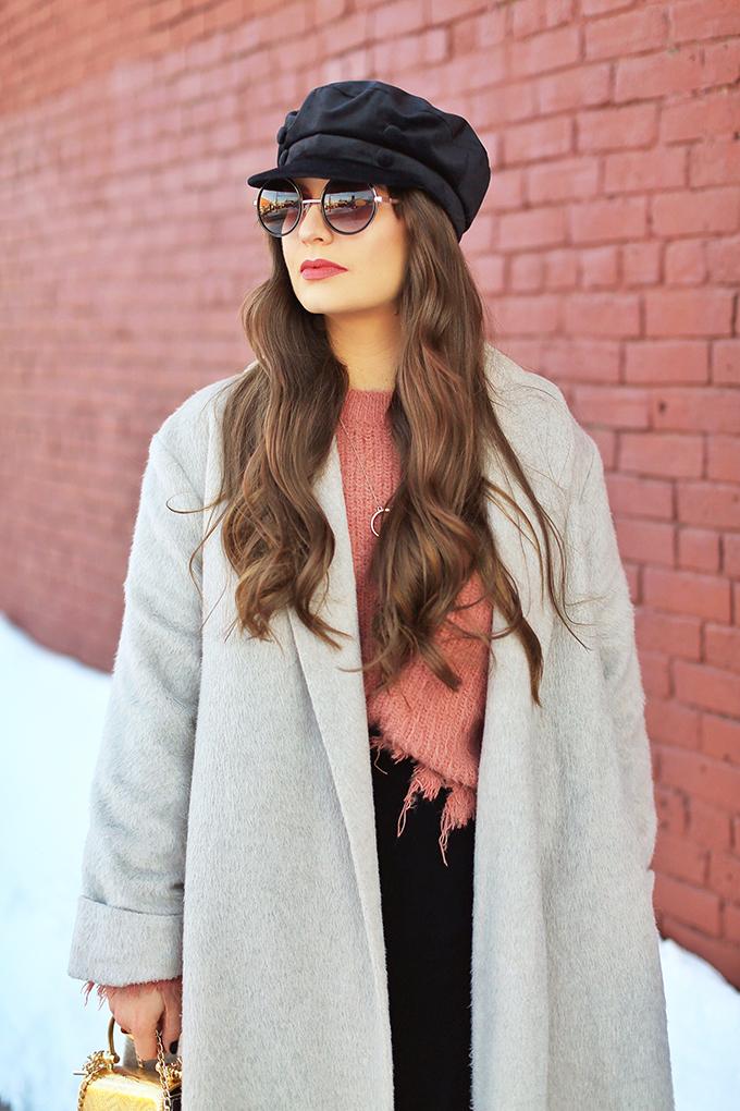 Winter 2018 Trend Guide | Velvet Underground | Key Winter to Spring Transitional 2018 Trends | Baker Boy Hats | Calgary, Alberta, Canada Fashion Blogger // JustineCelina.com