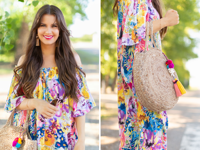 Summer 2018 Trend Guide | Flower Power | Summer 2018 Trends | How to Style Flowy Floral Dresses, Espadrilles and Circular Bags for Summer // JustineCelina.com