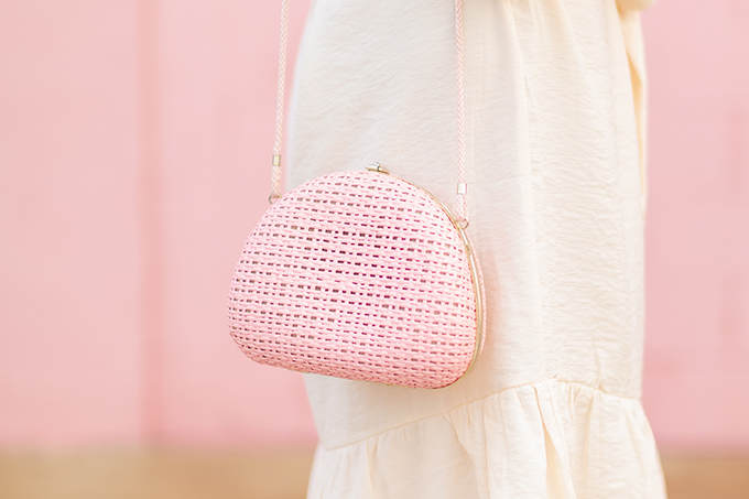 The Accessory Edit | Natural Material Bags | Vintage Pink Italian Straw Bag from Prairie Bazaar, Calgary | How to Style Vintage Straw Bags | The Best Straw Bags 2018 // JustineCelina.com