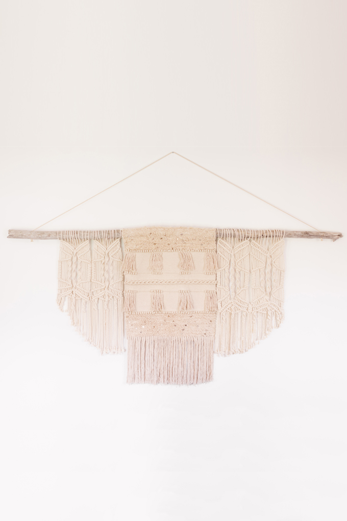 DIY | Modern Driftwood Macrame Wall Hanging  | How to Make a Large Macrame Wall Hanging for Less Than $70! | Macrame Wall Hanging Tutorial | Affordable Bohemian Wall Hanging DIY // JustineCelina.com