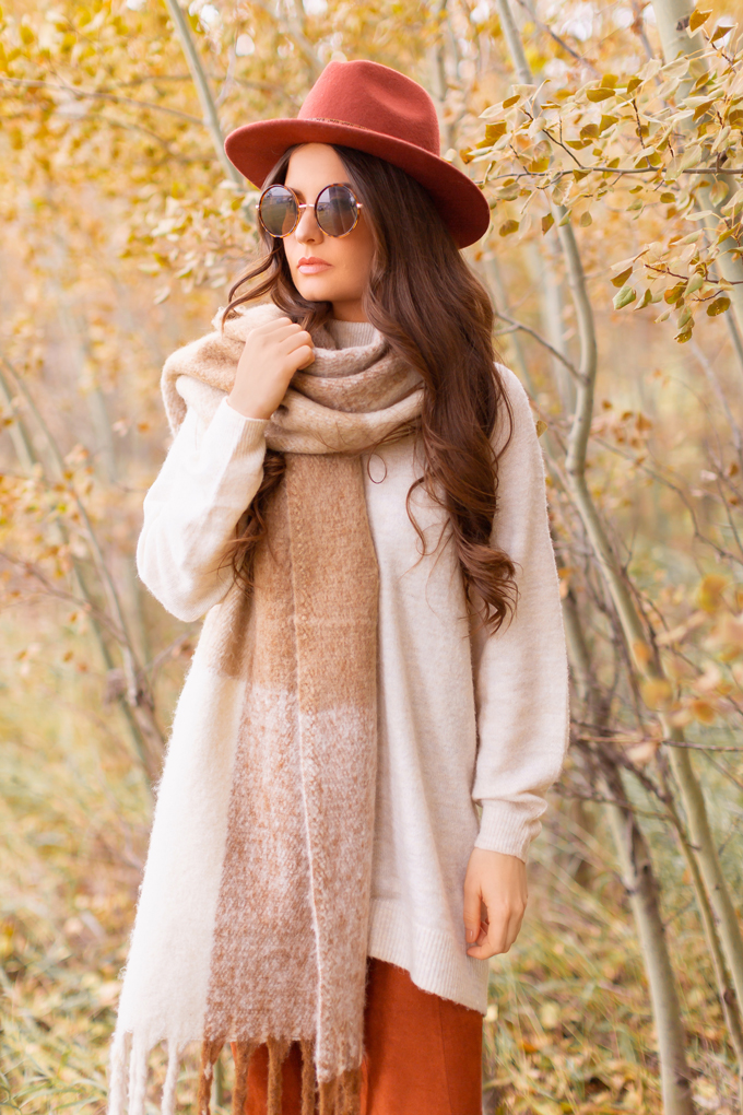 Casual Fall Style Staples   Casual Thanksgiving Outfit Ideas   Thanksgiving Outfit Ideas for Cold Weather   Canadian Thanksgiving Outfits   Casual Family Holiday Dinner Outfit Ideas   Family Thanksgiving Outfits   Bohemian Thanksgiving Outfit Ideas   Casual Boho Fall Outfit   The Best H&M Sweaters   Lucky Brand Azoola Boots in Whiskey   Brunette Woman Wearing a Casual Fall Thanksgiving Outfit   Calgary Fashion & Lifestyle Blogger // JustineCelina.com
