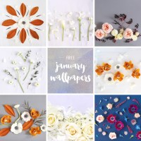JANUARY DIGITAL BLOOMS ROUNDUP | 8 FREE DESKTOP WALLPAPERS