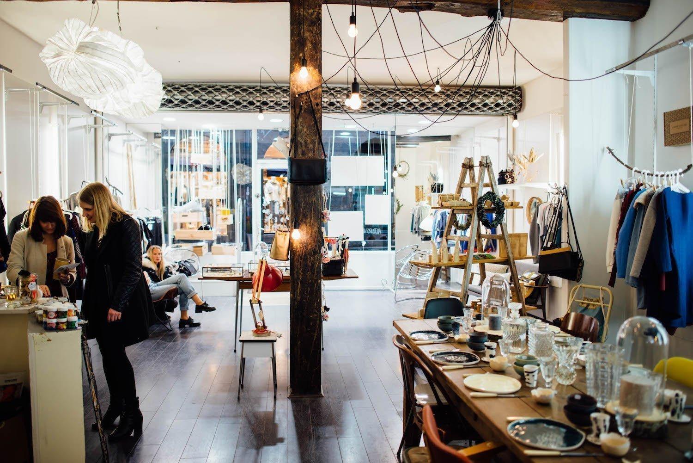 L'Apéro Shopping Rennais dans une boutique du centre ville.
