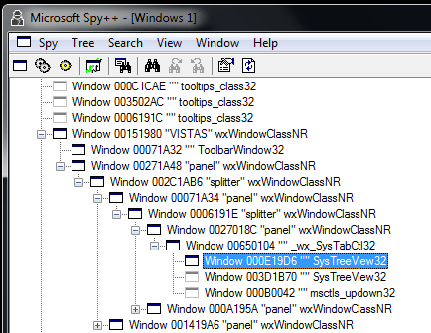 Spy++ UI Trace