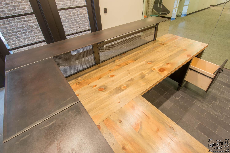 Custom Reception Desk Reclaimed Beetle Kill Tops Real