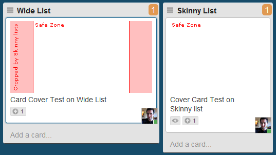 Example of Trello Card Cover Template on different Trello list widths