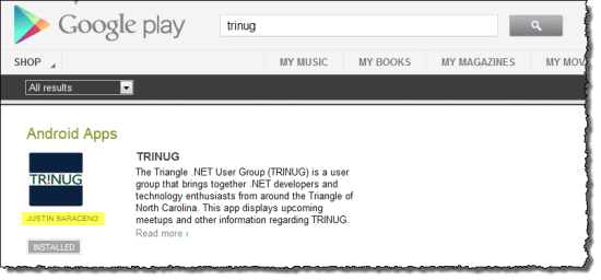 TRINUG on Google Play