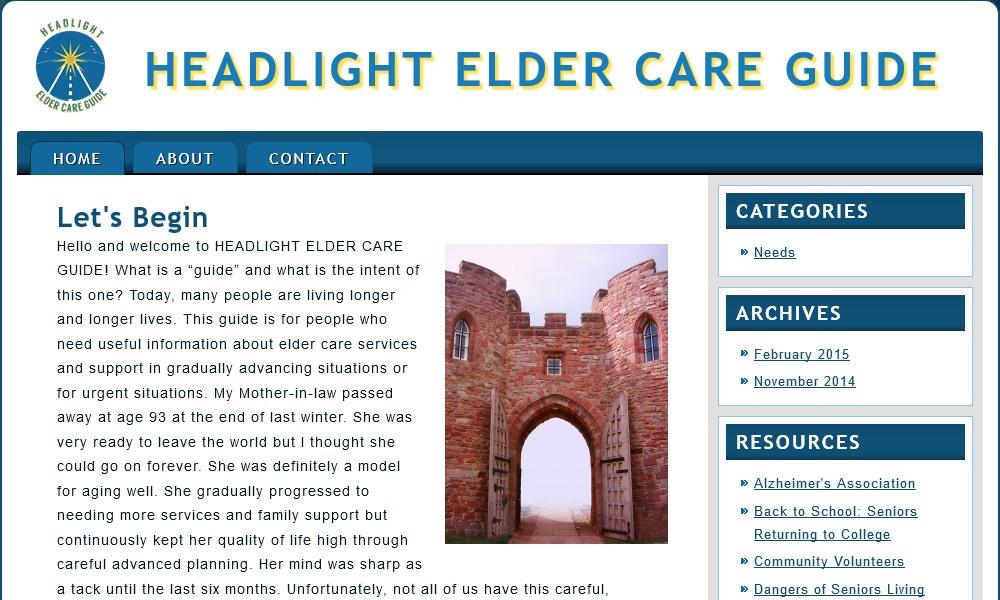 Headlight Elder Care Guide