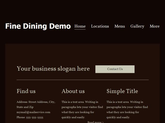 Fine Dining Demo