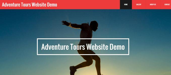 Adventure Tours Website Demo