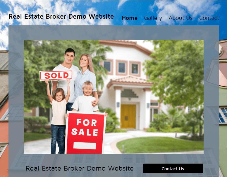 Real Estate Broker Website Demo