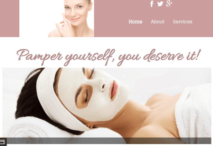 Spa Website Demo 2