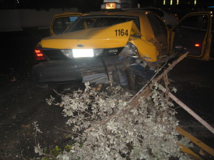 Accidente de taxi Florida