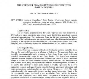 Foto 2: Pagina de început a lucrării științifice scrise și publicate de d-na Delia Anne-Maria Androne.