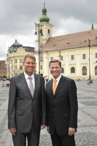 Klaus Iohannis și Guido Westerwelle.