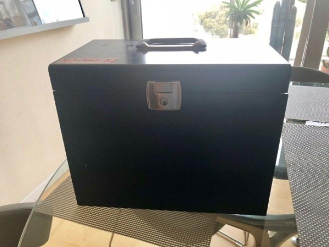 caja para llevar los temas al examen