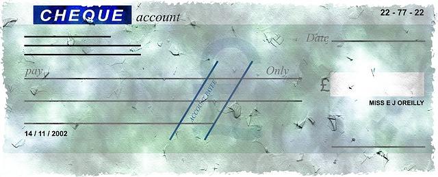 acta depósito cheque