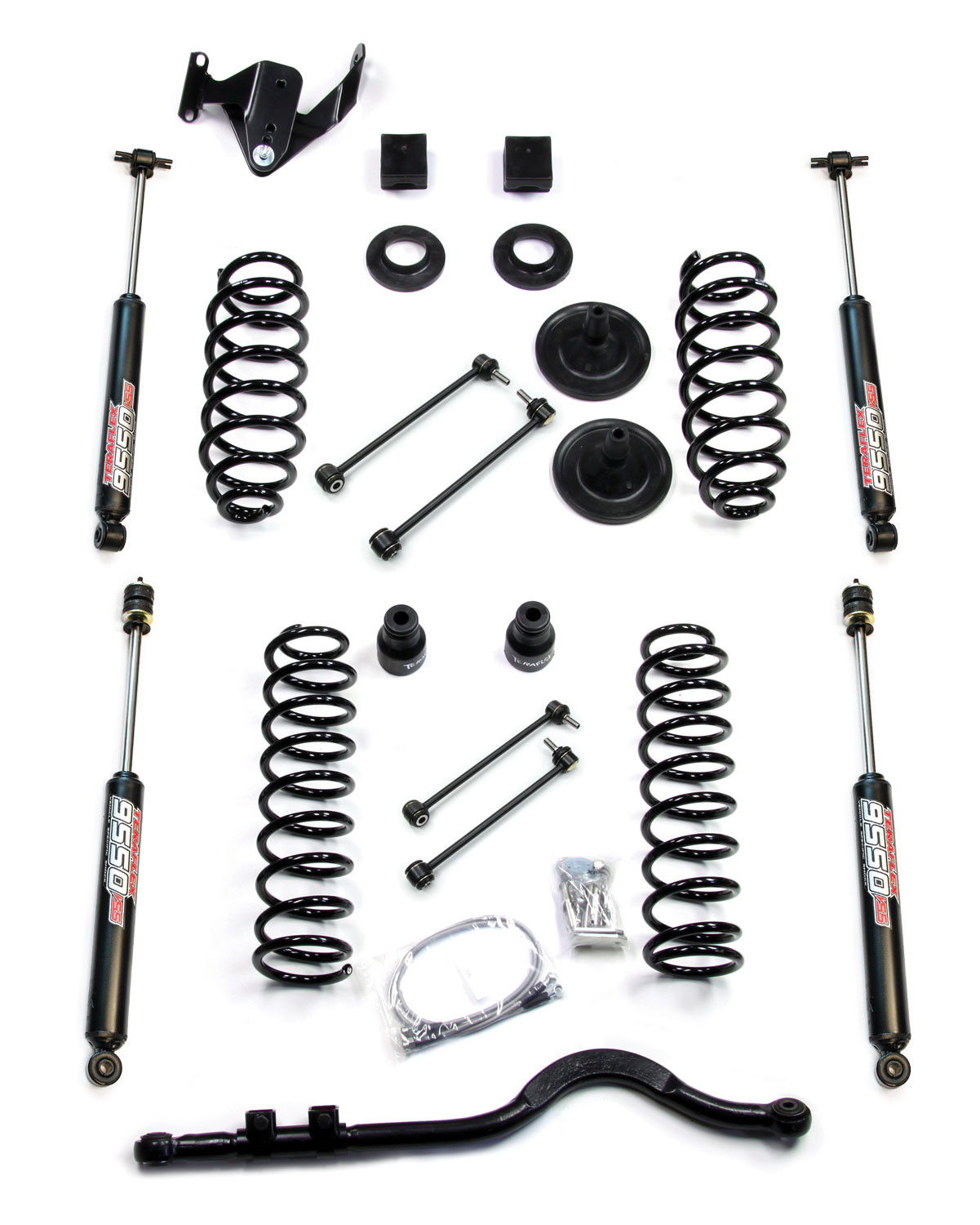 Just Jeeps Teraflex 3 Suspension Lift Kit With Trackbar Amp Shocks For 18 Jeep Wrangler