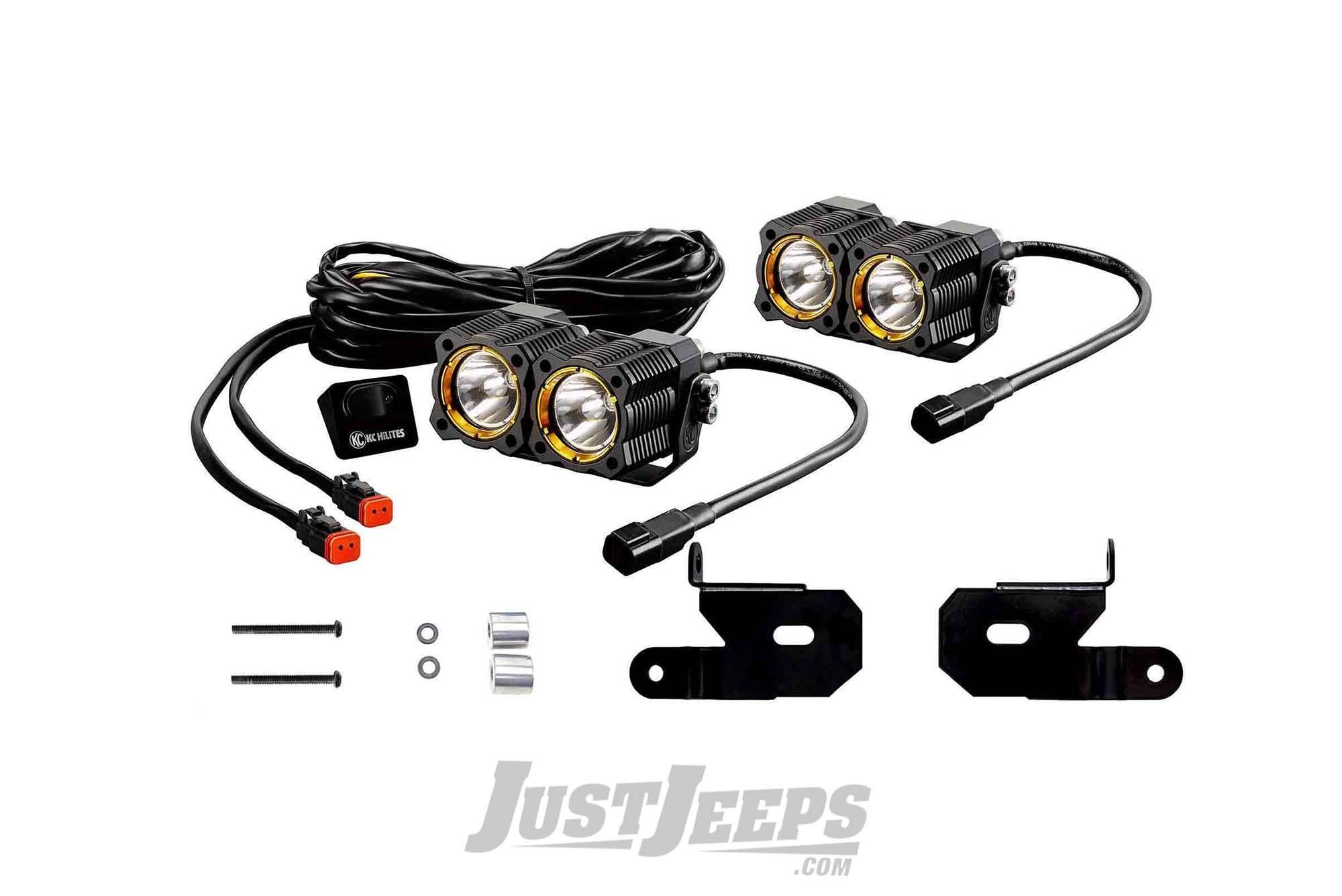 Just Jeeps Kc Hilites Spot Beam Flex Led Dual Led Lights