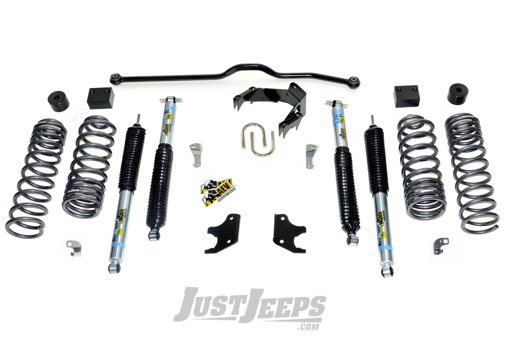 Just Jeeps Aev 2 5 Dualsport Xt Suspension System With Bilstein Shocks For 18 Jeep