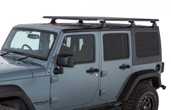 rhino rack pioneer platform rtl600 with backbone system 72 x 56 assembled for 2007 18 jeep wrangler unlimited jk hardtop ja7697