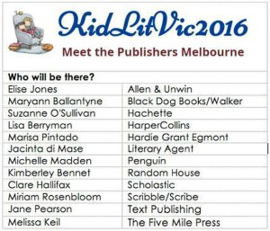KidLitVic2016 Meet the Publishers Day by Alison Reynolds