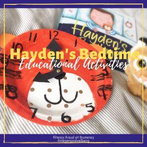 Hayden's Bedtime activities