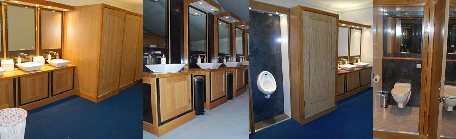 Marquee luxury toilet hire