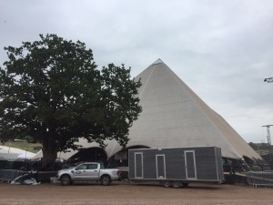 Loos for the artists at Glastonbury Music Festival
