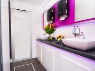 Boutique Holywood themed toilet trailer Interior