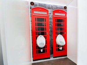 Boutique trailer phone box interior