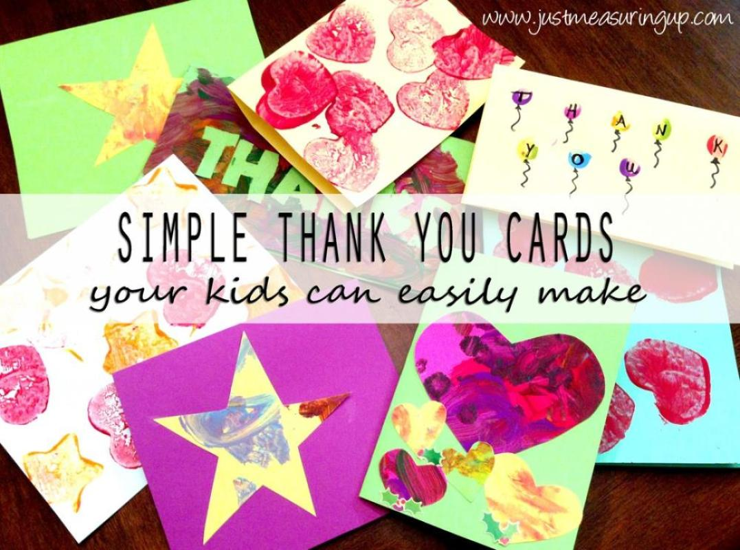 Easy Thank You cards Your Kids Can Make