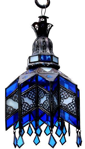 Blue Glass Ceiling Chandelier