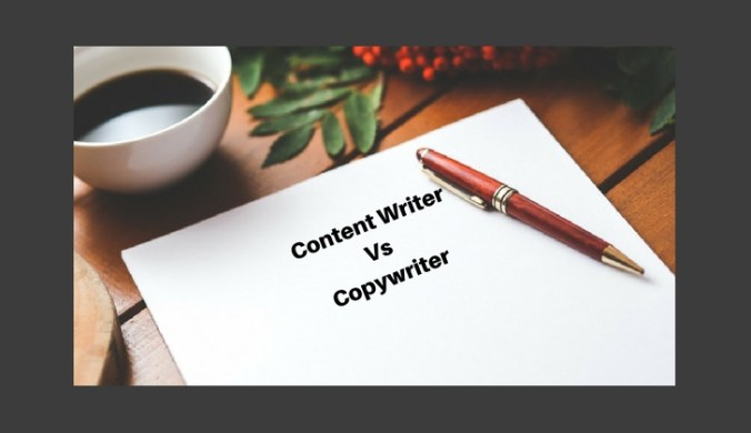 Difference between Content Writer and Copywriter