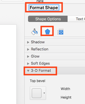 Select 3D Format tab in Effects options