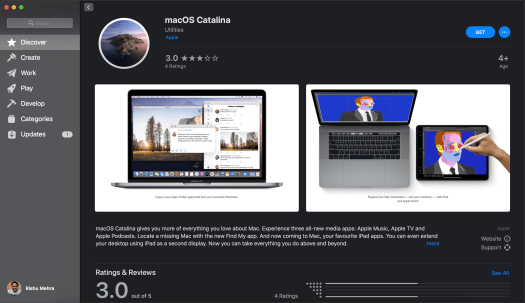 macOS Catalina in Mac App Store